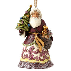 Jim Shore Santa ornaments