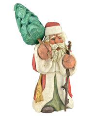 Russell Scott wooden Santa Claus carvings