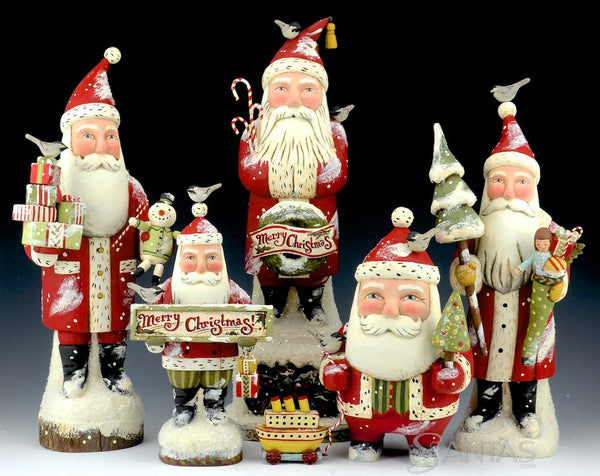 2016 Greg Guedel Santa carvings