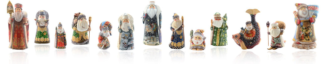 Russian Santa carvings from Santas.com