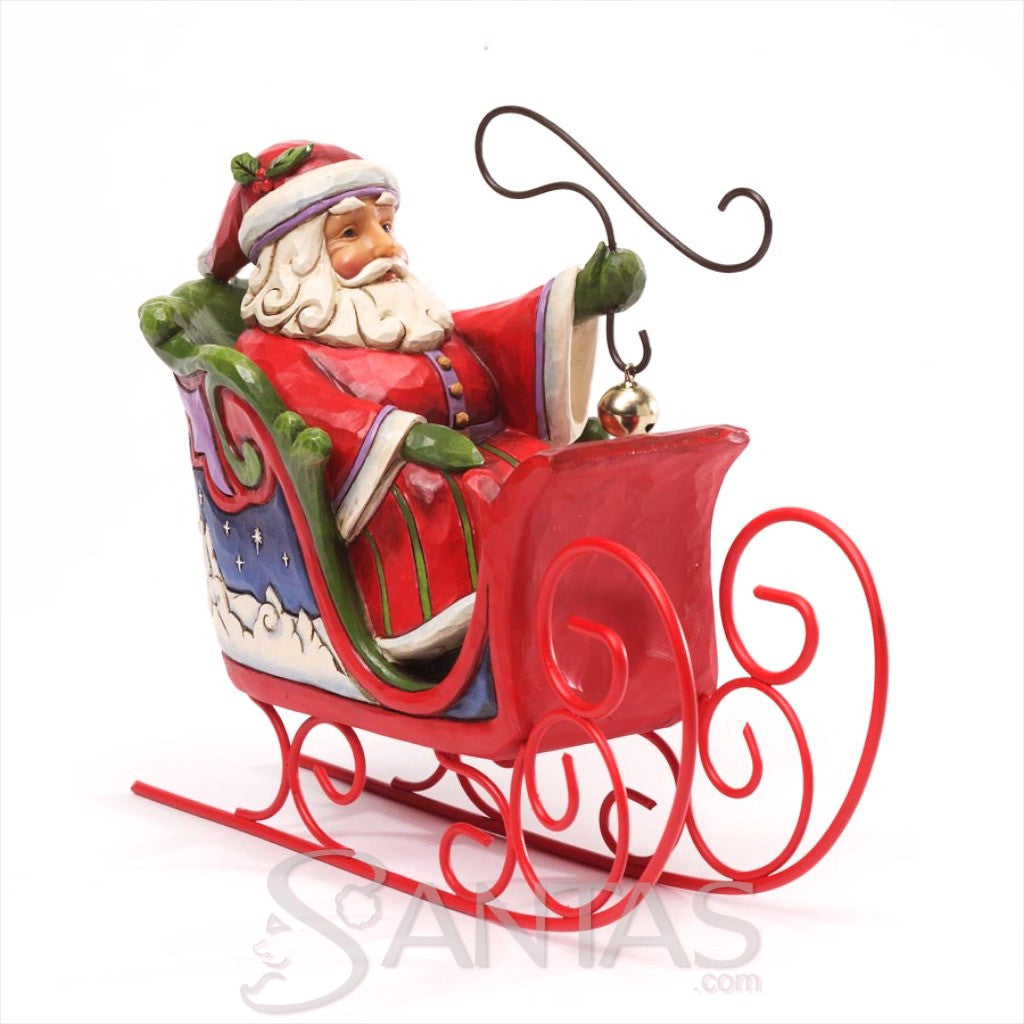 Santa sleigh ornament - Jim Shore Santa In Sleigh