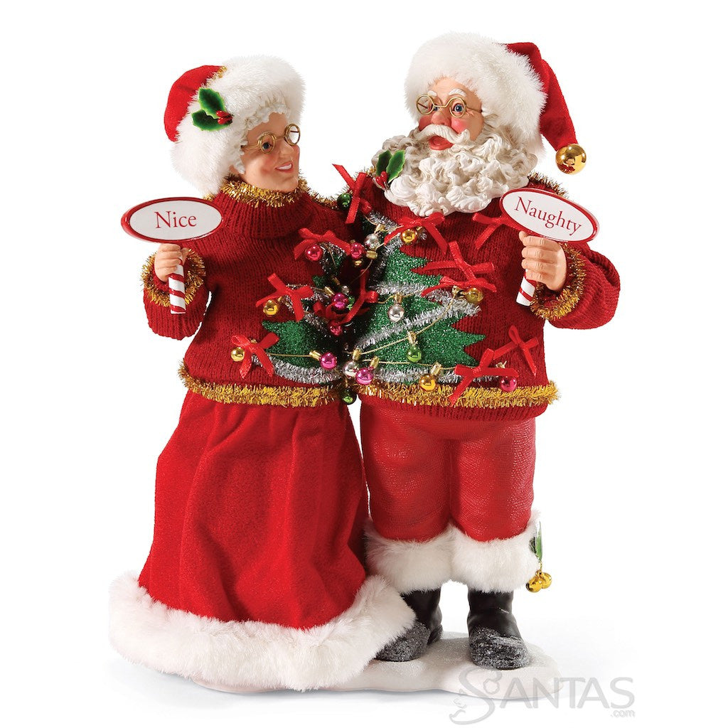Mr and mrs claus ornaments - Sweater Set By Possible Dreams