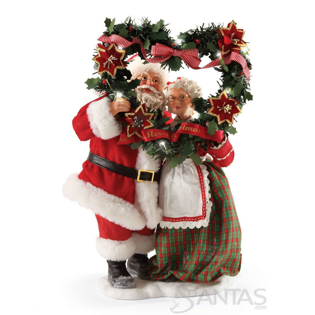 Mr and mrs claus ornaments - Evergreen Love Possible Dreams Mr And Mrs Claus