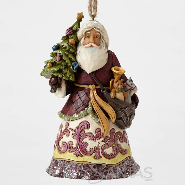 Victorian Santa With Tree Ornament Jim Shore 4053699
