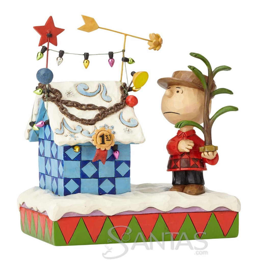 Charlie Brown & Decorated Doghouse - Charlie Brown Christmas 4057673 ...