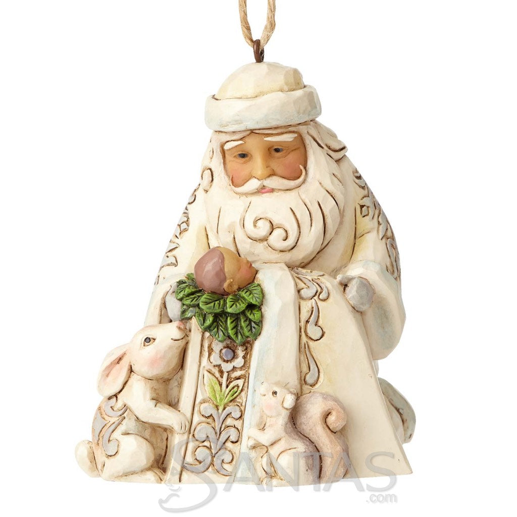 Jim Shore French Santa Ornament Bonjour And A Merry