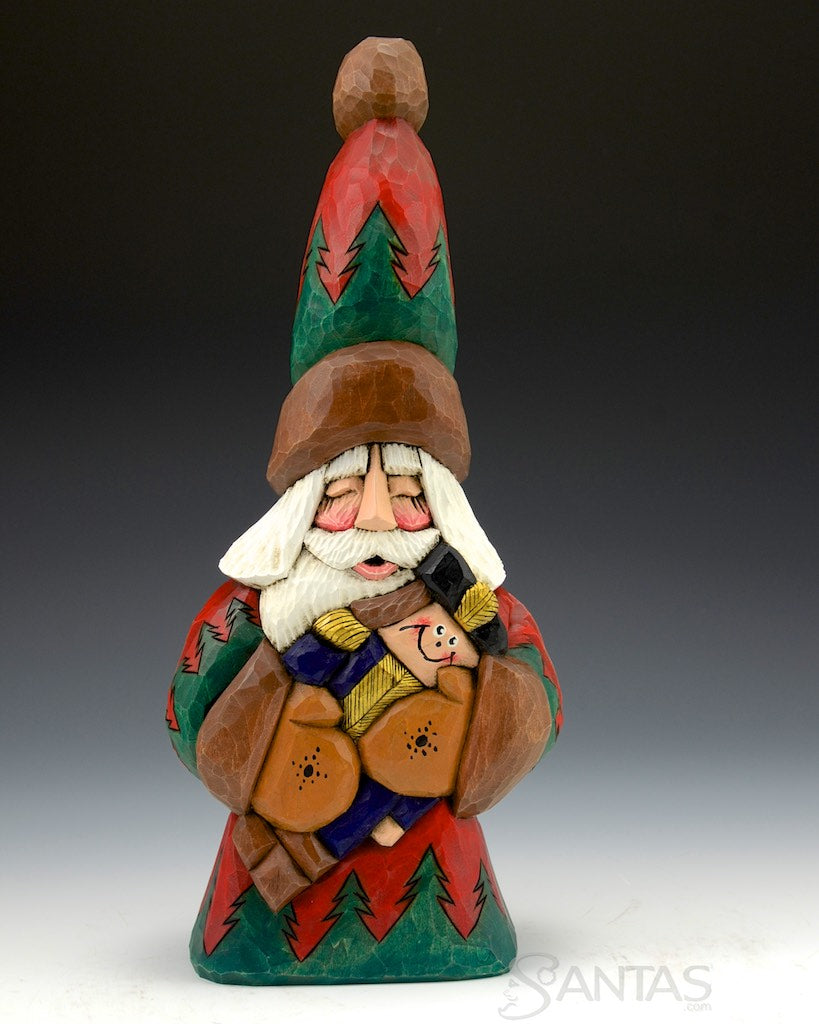 89db86863846b 12 inch Toy Soldier Santa Carving by Dave Francis