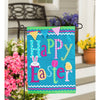 Happy Easter House Applique Flag