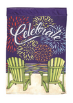 Celebrate Double Applique House Flag