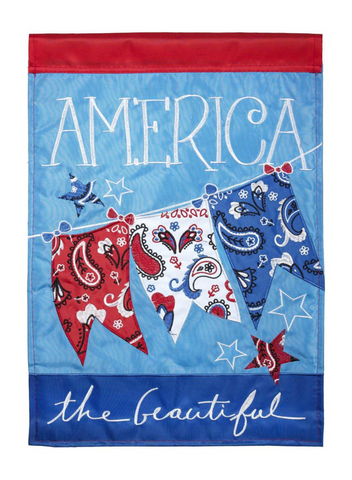 America The Beautiful Double Applique Garden Flag