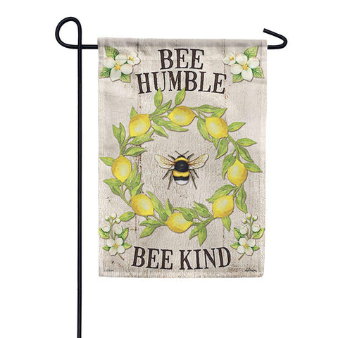 """Bee Kind"" Lemon Wreath Durasoft Flag"
