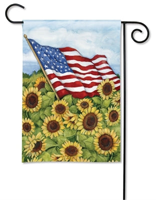 "Sunflower Field ""SolarSilk"" Garden Flag"