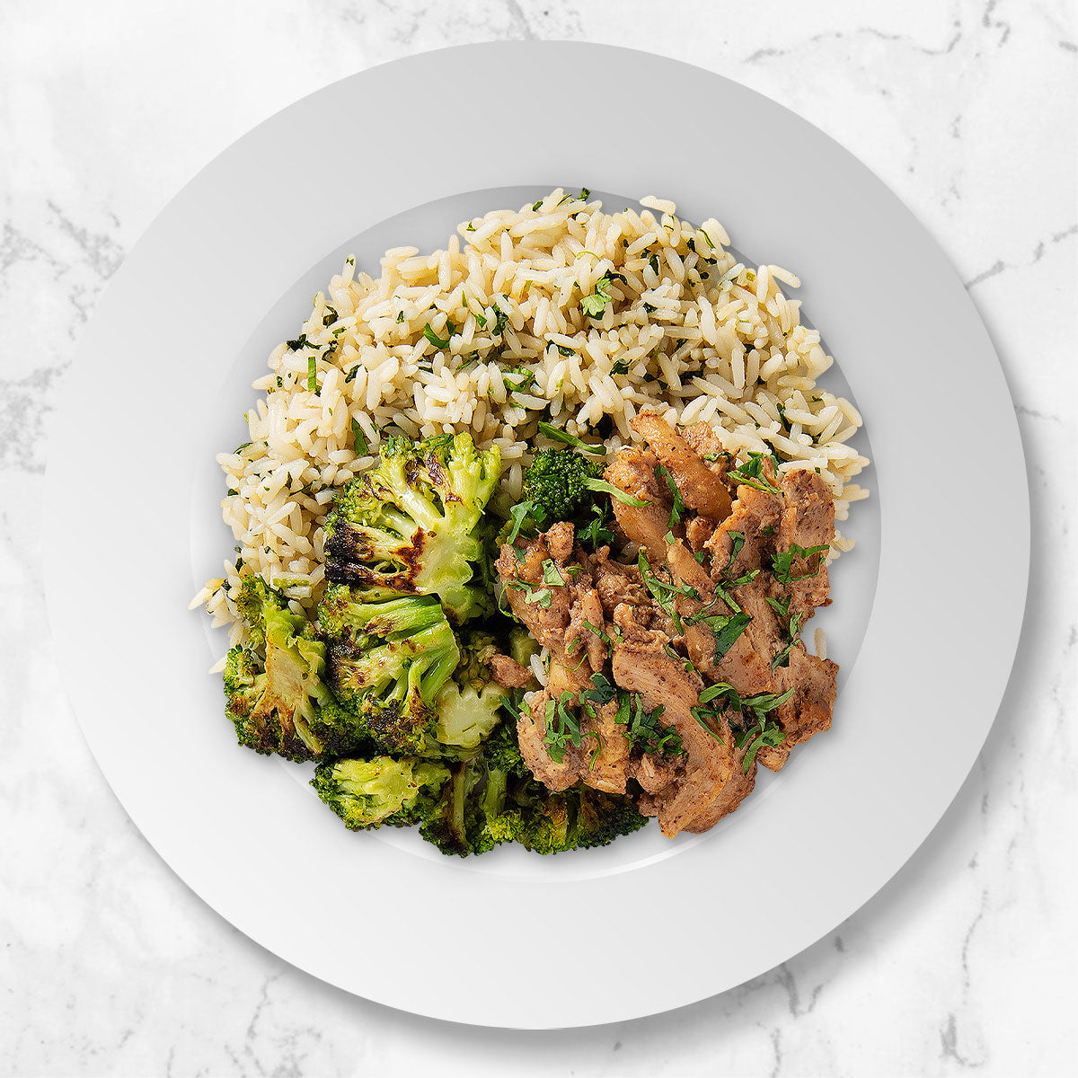 Chicken Satay with Cilantro Rice and Broccoli