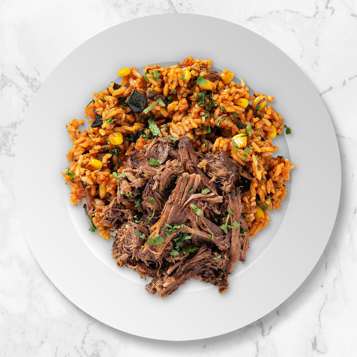 Shredded Beef and Rice Bowl