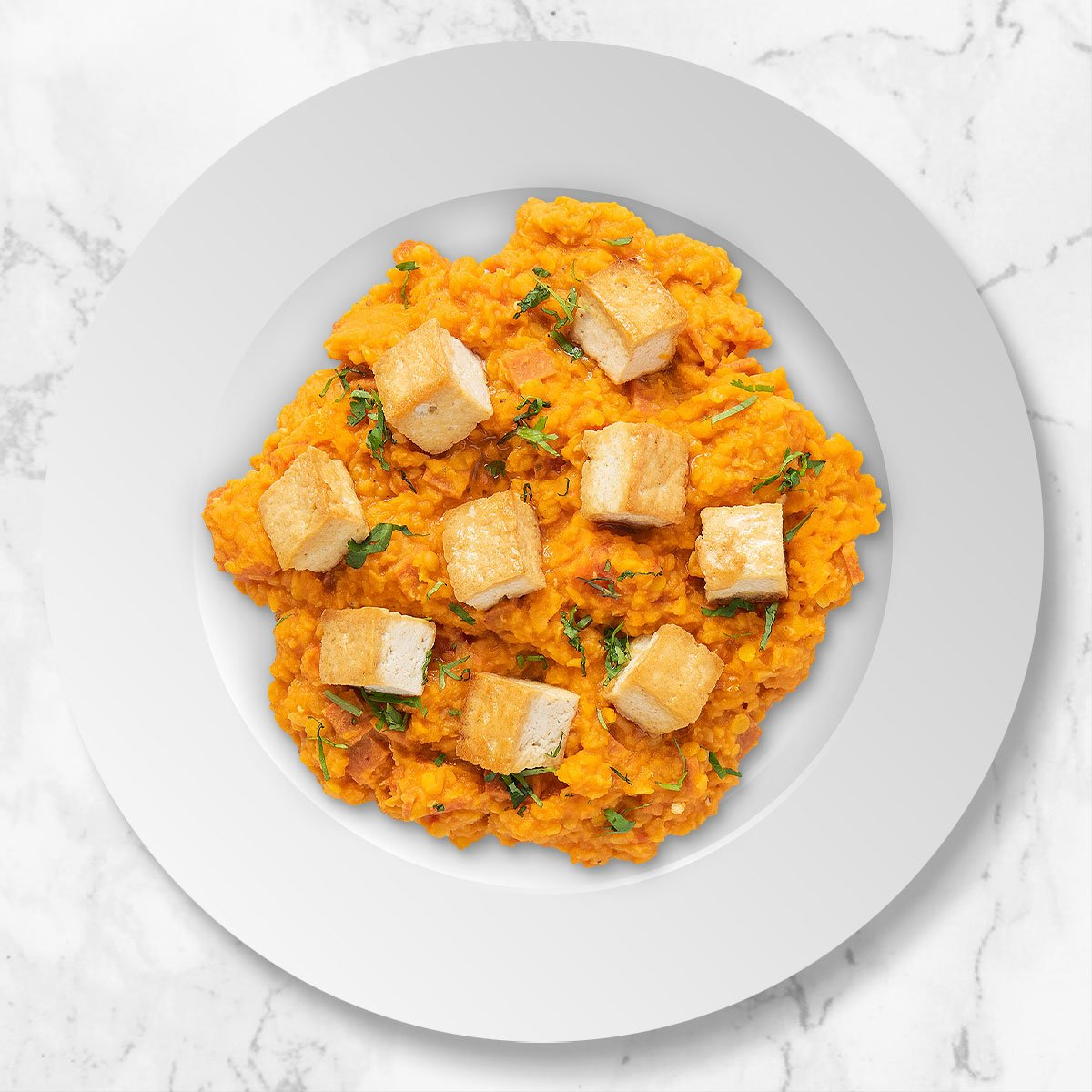 Spiced Red Lentils with Tofu