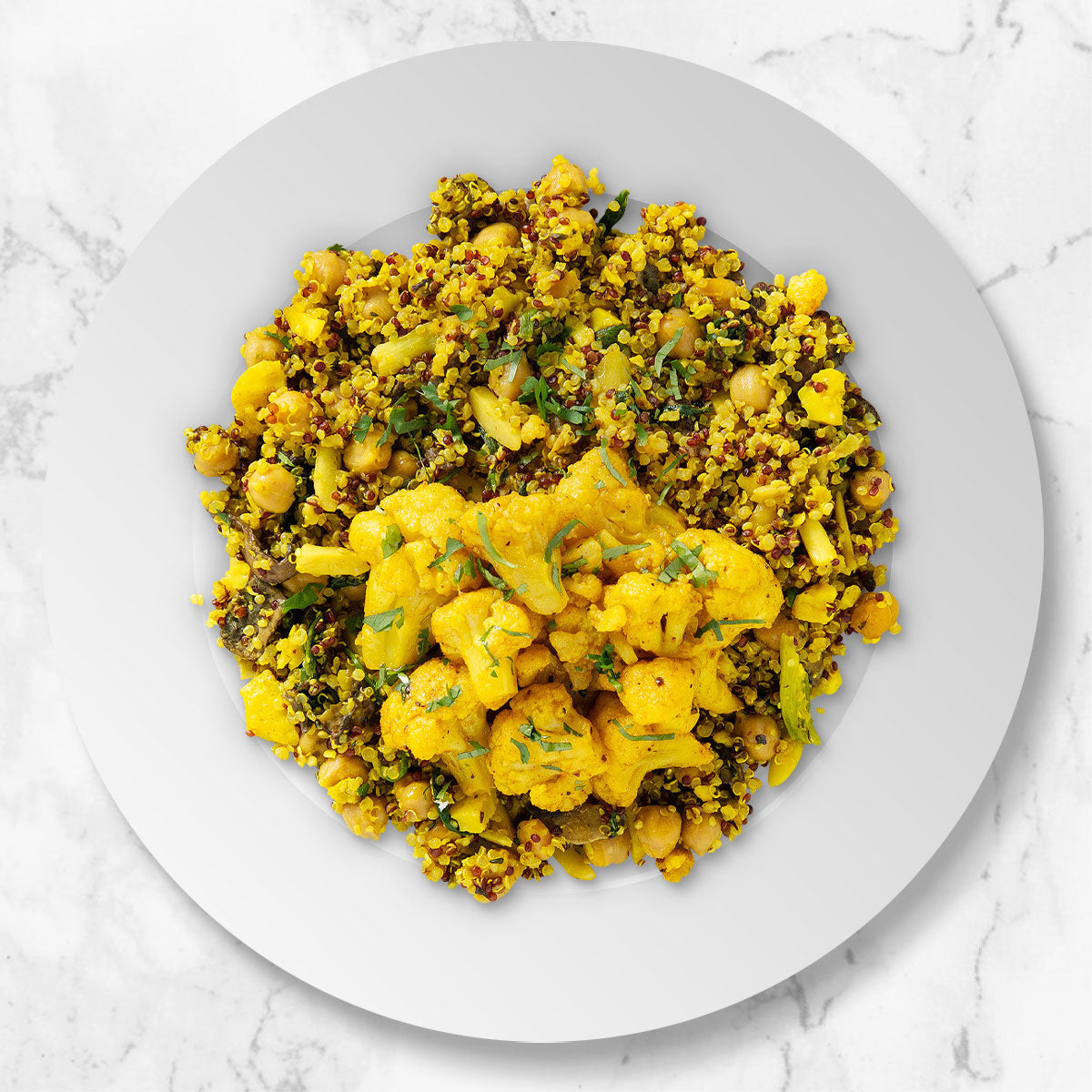 Quinoa and Chickpea Pilaf with Spiced Cauliflower