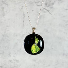 Load image into Gallery viewer, Dichroic Glass Block Island Necklace made by Eben Horton