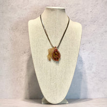Load image into Gallery viewer, Jasper Pendant with Leafy Wire