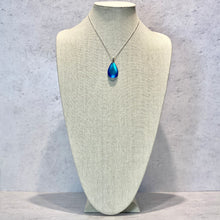 Load image into Gallery viewer, Dichroic Medium Drop Pendant in Frosted Blue