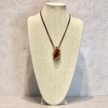 Load image into Gallery viewer, Natural Brown Crystalized Stone Pendant