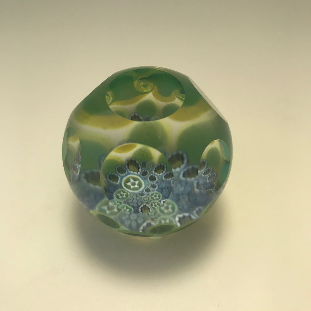 End of Day Millefiori Paperweight