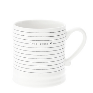 Tasse love today schwarz