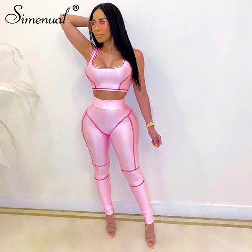 Simenual Casual Fashion Athleisure Workout Set