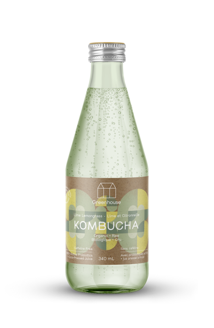 Greenhouse Juice - Lime Lemongrass Kombucha 340ml
