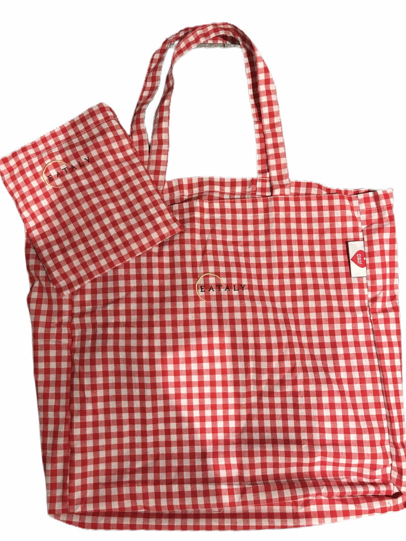 Red Checked Cotton Bag