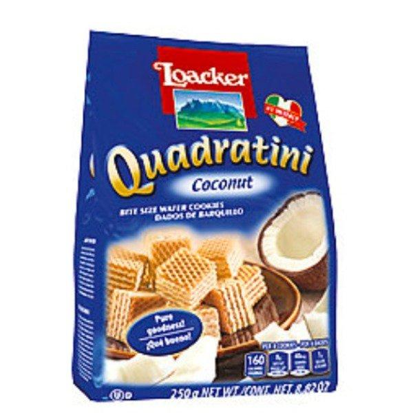Quadratini Coconut Wafers - 250g