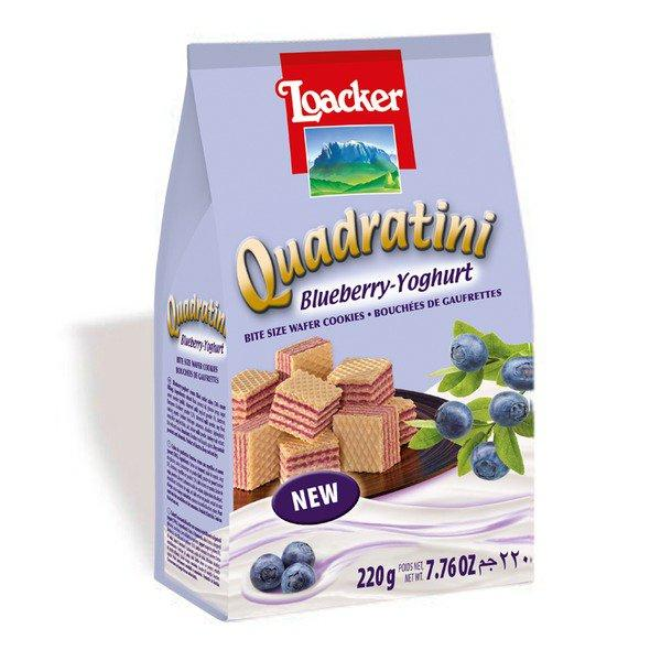 Quadratini Blueberry-Yogurt Wafers - 250g