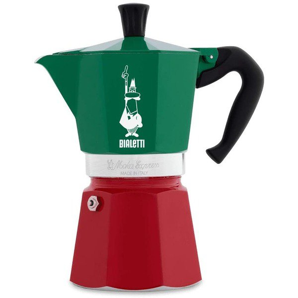 Moka Express 3-Cup Tricolore Coffee Maker