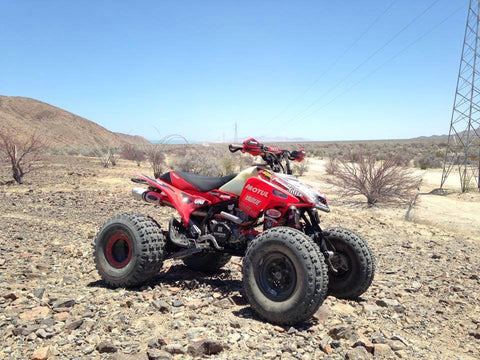 Juan Pirunnas Dominguez Winning Honda TRX 450 with Barker's Exhaust
