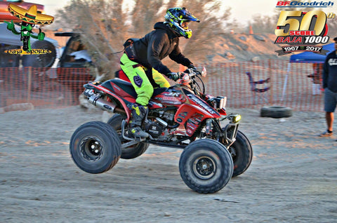 Team 109A at the 50th Baja 1000 with Barker's Exhaust on their Honda TRX450R