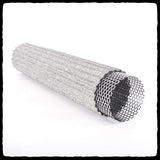 Barker's Performance Complete Muffler Repack Kit - High Temp Stainless Steel Fiber Wool Mat sticking out of Inner Core Baffle - diagonal