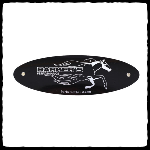 Black Barker's Exhaust Replacement Tag