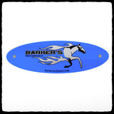 Blue Barker's Exhaust Replacement Tag