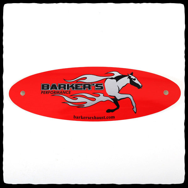 Red Barker's Exhaust Replacement Tag