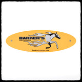 Yellow Barker's Exhaust Replacement Tag