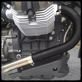 DEI Black Titanium Exhaust Wrap on bike