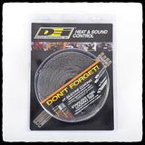 DEI EXO Series Black Exhaust Wrap in Packaging - Front