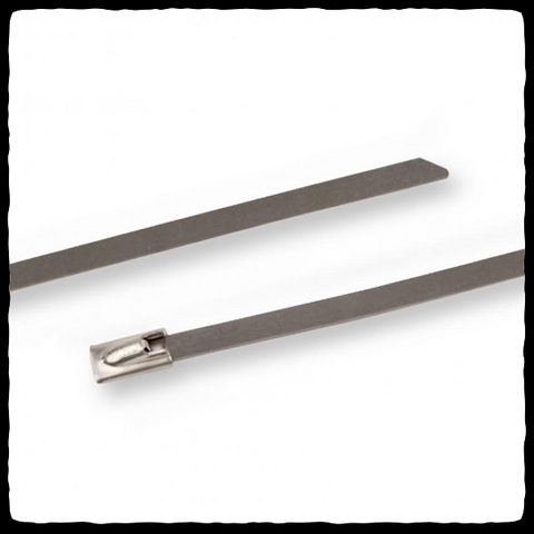 DEI Stainless Steel Locking Ties Close-up