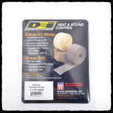DEI Standard Black Exhaust Wrap in Packaging - Back