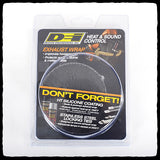 DEI Standard Black Exhaust Wrap in Packaging - Front