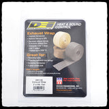 DEI Standard Tan Exhaust Wrap in Packaging - Back