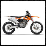 KTM 450 SX-F Full Single Exhaust System for 2016-2018 Models