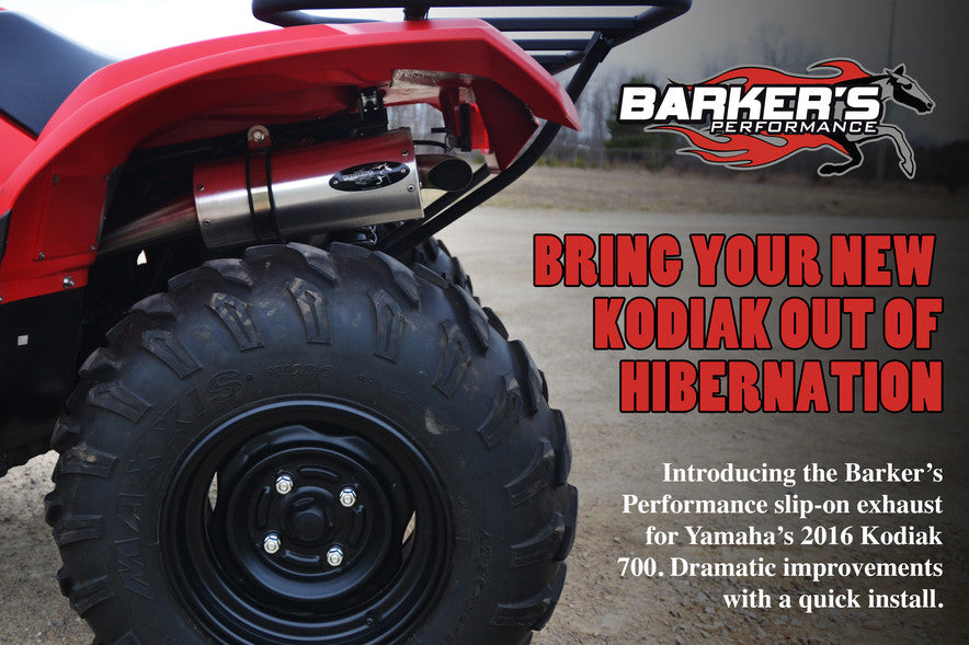 Barker's Performance Slip on exhaust for Yamaha Kodiak 700