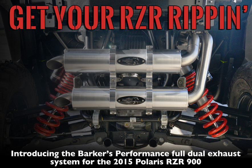 Barker's Performance Dual Exhaust for 2016 Polaris RZR 900