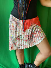 Load image into Gallery viewer, Pleated asymmetrical skirt custom painted