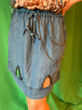 Load image into Gallery viewer, Denim skirt with chains